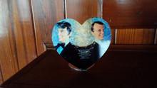 Desk Top Heart Photo Blank -  Custom Aluminum Dye Sublimation Blank with Stand