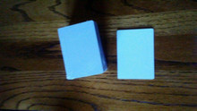 "Two Sided White Sublimation Playing Card Size 2-1/2"" x 3-1/2"" Lot of 50PCs"