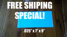 """7"""" X 9"""" Aluminum Sublimation Photography Blanks .025"""" SPECIAL OFFER!"""