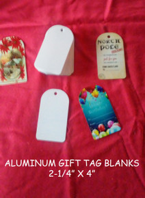 "Gift Tag Blanks- 2-1/4"" X 4"" Gloss White Aluminum Dye Sublimation"