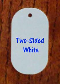 """Aluminum Sublimation Big Dog Tag Blanks, 2- 1/4"""" x 4""""- 50PCs -TWO SIDED WHITE"""