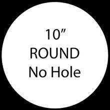 """10"""" Round Blank Aluminum Sublimation with No Hole"""