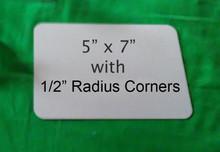 """Aluminum Dye Sublimation Photo Blanks 5"""" x 7"""" with 1/2"""" Radius Corners"""