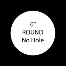 """6"""" Round Blank Aluminum Sublimation with No Hole"""