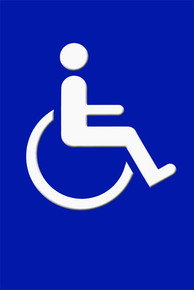 "Wheelchair Access Sign 12"" x 8"" High Gloss Aluminum"