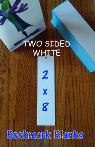 BOOKMARK Blanks- Two Sided White Dye Sublimation Aluminum - 20 pc Lots