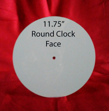"Dye Sublimation Aluminum Clock Face Blank - 11.75"" diameter"