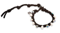 Perla:  Swarovski Crystals + Freshwater Pearl Bracelet