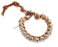 Charlotte: Suede + Rhinestones Bracelet