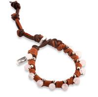 Rosa: Rose Quartz + Sterling Silver Beads Bracelet