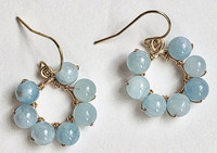 Daisy: Aquamarine Beads + 14kt Gold-Filled Components