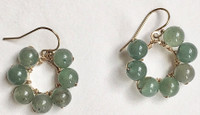 Daisy: Green Aventurine Beads + 14kt Gold Filled Components