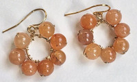 Daisy: Red Aventurine Beads + 14kt Gold-Filled Components