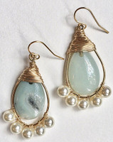 Petra: Amazonite + Pearls + 14kt Gold-Filled Components