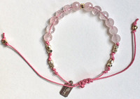 Aphrodite: Rose Quartz + Sterling Silver Beads