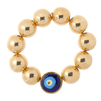 Evil Eye Ring: 14kt Gold-Filled Beads + Turkish Evil Eye