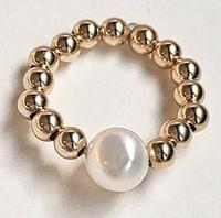 Perla: 14kt Gold Fill Beads + Pearl