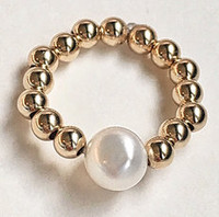 Perla: 14kt Gold Filled Beads + Pearl