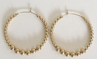 Inti Hoops 50mm: 14kt Gold-Filled Hoops + Beads