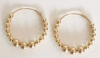 Inti Hoops 30mm: 14kt Gold-Filled Hoops + Beads