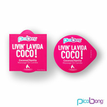 PICO BONG MASSAGE OIL CANDLE COCONUT/VANILLA(NET) | LE7038 | [category_name]