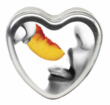 CANDLE 3-IN-1 HEART EDIBLE PEACH 4.7 OZ.