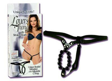 LOVERS THONG W/STROKER BEADS | SE006003 | [category_name]