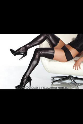 WET LOOK THIGH HIGH BLACK OS | CQD1728BLK | [category_name]