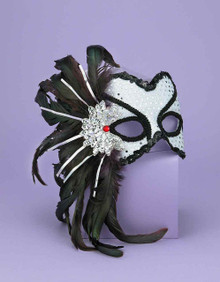 HALF MASK KARNEVAL SILVER | FN56285 | [category_name]