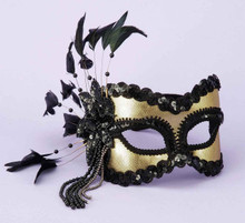 HALF MASK BLACK/GOLD | FN59520 | [category_name]