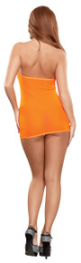 MESH TUBE DRESS & G-STRING ORANGE O/S (NEON ACCESSORY)