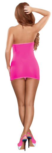 MESH TUBE DRESS & G-STRING PINK O/S (NEON ACCESSORY)   MS200PINK   [category_name]