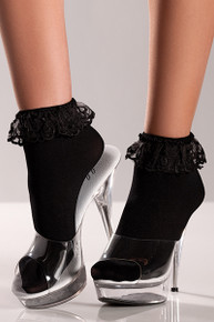 BLACK ANKLETS W/ LACE