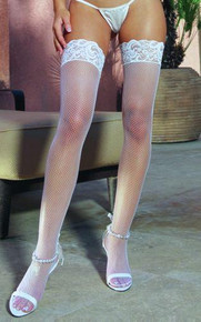 THIGH HIGH FISHNET WHITE OS INMILANIN | DG0001WH | [category_name]