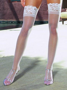 THIGH HIGH SILICONE WHITE OS INTUSCANYIN | DG0005WH | [category_name]