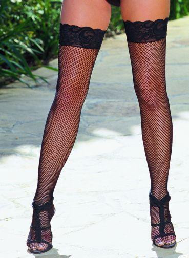 THIGH HIGH FISHNET LACE BLACK OS INSEVILLEIN | DG0006BK | [category_name]