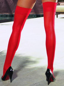 THIGH HIGH SHEER RED OS INMOULININ | DG0007RD | [category_name]