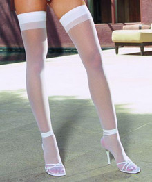 THIGH HIGH SHEER WHITE OS INMOULININ | DG0007WH | [category_name]