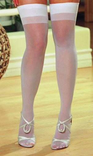 THIGH HIGH SHEER WHITE OS QUEEN INMOULININ   DG0007XWH   [category_name]