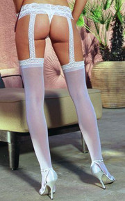 PANTYHOSE WITH GARTERS WHITE OS INVERONAIN