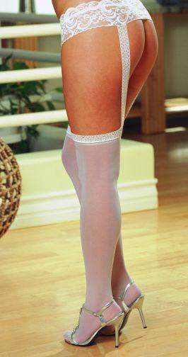 PANTYHOSE WITH GARTERS WHITE OS QUEEN INVERONAIN | DG0013XWH | [category_name]