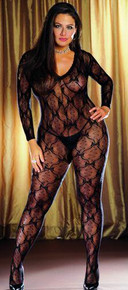 BODY STOCKING BLACK OS QUEEN INBORDEAUXIN
