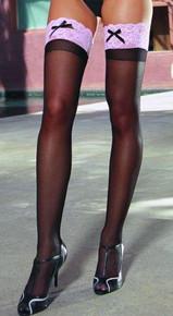 SHES GOT LEGS THIGH HIGH BLACK/PINK OS