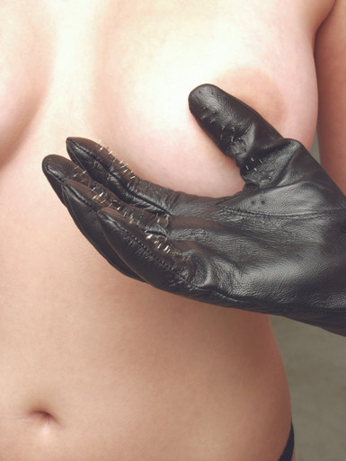 VAMPIRE GLOVES LEATHER LARGE   KL543   [category_name]