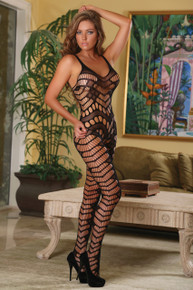 CLUB SEAMLESS CROTCHLESS CATSUIT BLK O/S | MS119BLK1SZ | [category_name]