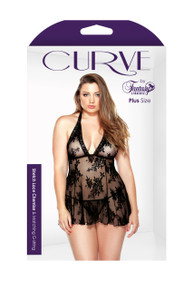 CURVE LACE CHEMISE & G STRING 1X2X | FANBP1211X2X | [category_name]