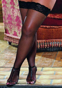 THIGH HIGH FISHNET LACE BLACK OS QUEEN INSEVILLEIN | DG0006XBK | [category_name]