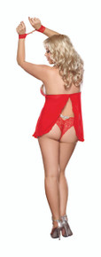 BABYDOLL W/PANT RED QUEEN SIZE