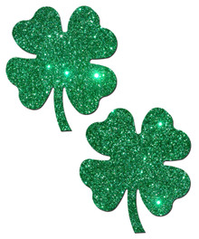 PASTEASE FOUR LEAF CLOVER: GLITTERING GREEN SHAMROCKS
