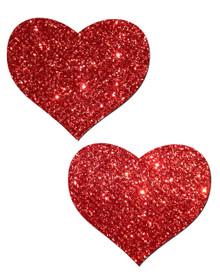 PASTEASE HEART RED GLITTER | PASHRTGLTRD5 | [category_name]